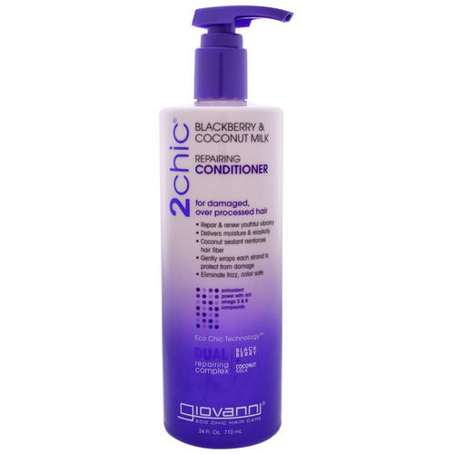 Giovanni, 2chic, Repairing Conditioner, for Damaged Over Processed Hair, Blackberry & Coconut Milk, 24 fl oz (710 ml) Review