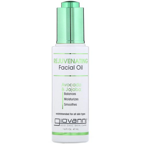 Giovanni, Rejuvenating Facial Oil, Avocado & Jojoba, 1.6 fl oz (47 ml) Review