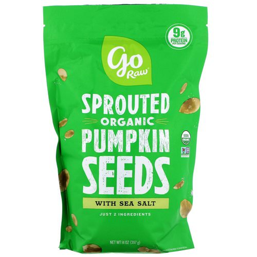 Go Raw, Organic Sprouted Pumpkin Seeds with Sea Salt, 14 oz (397 g) Review