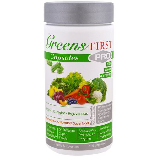 Greens First, PRO Phytonutrient Antioxidant Superfood, 180 Capsules Review