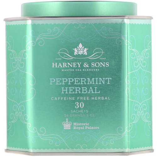 Harney & Sons, Peppermint Herbal, Caffeine-Free Herbal, 30 Sachets, 1.9 oz (54 g) Review