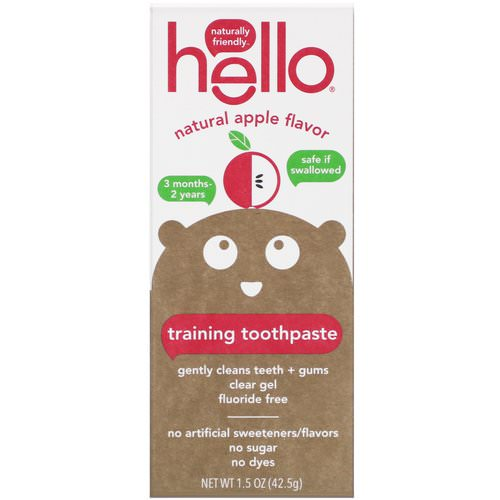 Hello, Training Toothpaste, Fluoride Free, Natural Apple Flavor, 1.5 oz (42.5 g) Review