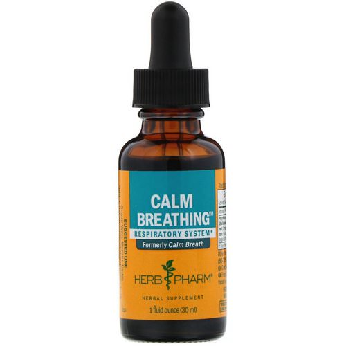Herb Pharm, Calm Breathing, Respiratory System, 1 fl oz (30 ml) Review