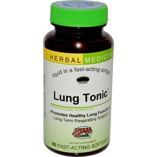 Herbs Etc, Lung Tonic, Alcohol Free, 60 Fast-Acting Softgels Review