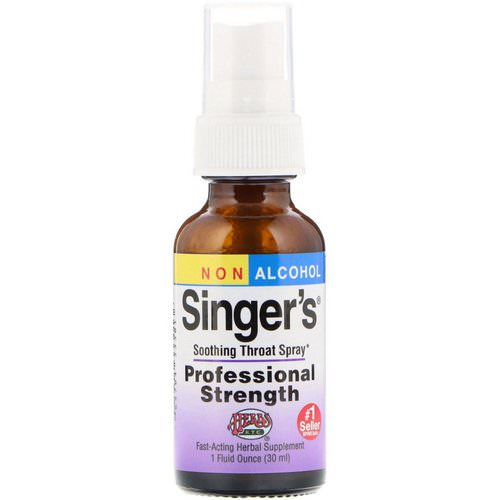 Herbs Etc, Singer's, Soothing Throat Spray, Non Alcohol, 1 fl oz (30 ml) Review