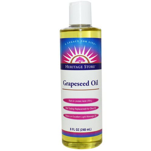 Heritage Store, Grapeseed Oil, 8 fl oz (240 ml) Review