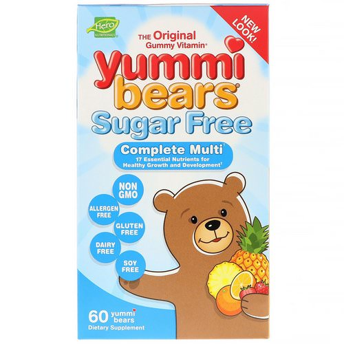 Hero Nutritional Products, Yummi Bears, Complete Multi, Sugar Free, All Natural Fruit Flavors, 60 Yummi Bears Review