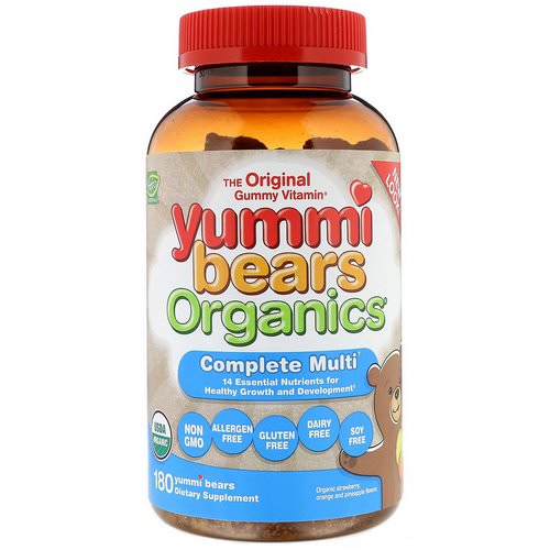 Hero Nutritional Products, Yummi Bears Organics, Complete Multi, Organic Strawberry, Orange and Pineapple, 180 Yummi Bears Review