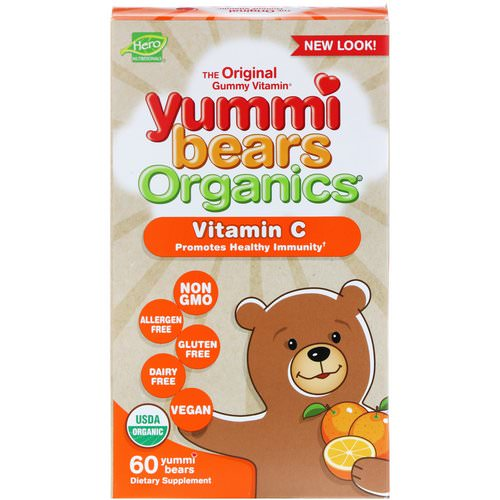 Hero Nutritional Products, Yummi Bears Organics, Vitamin C, 60 Yummi Bears Review