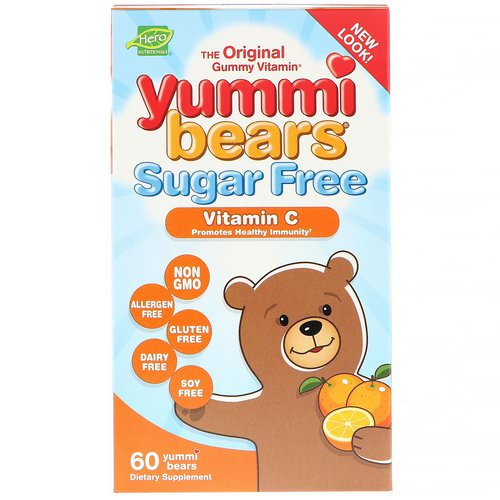 Hero Nutritional Products, Yummi Bears, Vitamin C, Sugar Free, All Natural Fruit Flavors, 60 Gummy Bears Review