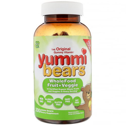 Hero Nutritional Products, Yummi Bears, Wholefood Fruit + Veggie, Natural Strawberry, Orange and Pineapple, 200 Yummi Bears Review