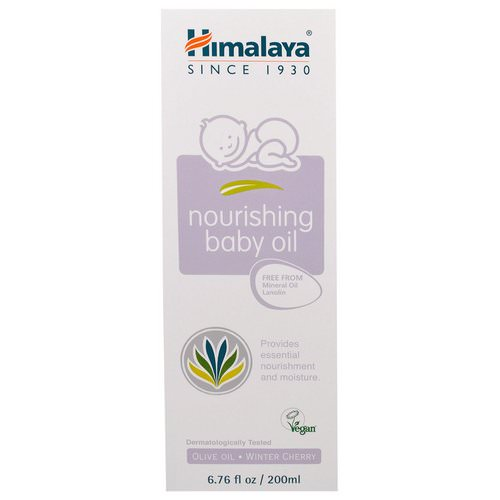 Himalaya, Nourishing Baby Oil, Olive Oil and Winter Cherry, 6.76 fl oz (200 ml) Review