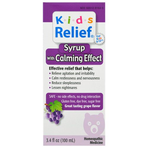 Homeolab USA, Kids Relief, Syrup with Calming Effect, Grape Flavor, 3.4 fl oz (100 ml) Review