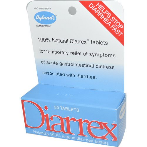 Hyland's, Diarrex, 50 Tablets Review
