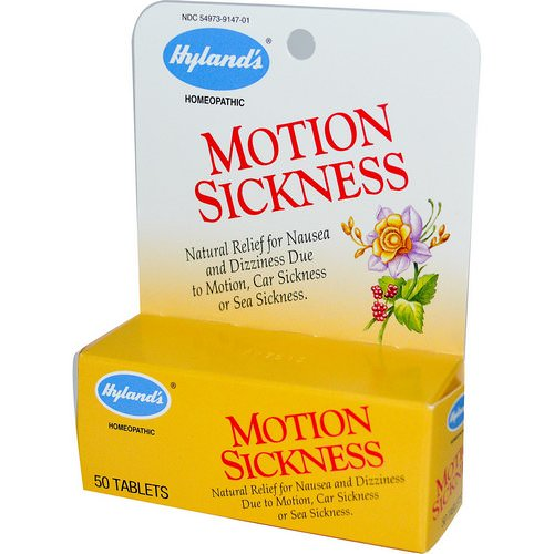Hyland's, Motion Sickness, 50 Tablets Review