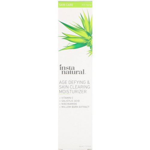 InstaNatural, Age Defying & Skin Clearing Moisturizer, Anti-Aging, 1.5 fl oz (44 ml) Review