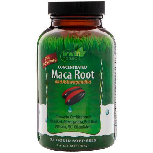 Irwin Naturals, Concentrated Maca Root and Ashwagandha, 75 Liquid Soft-Gels Review