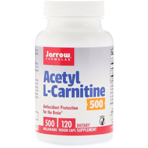 Jarrow Formulas, Acetyl L-Carnitine 500, 500 mg, 120 Veggie Caps Review