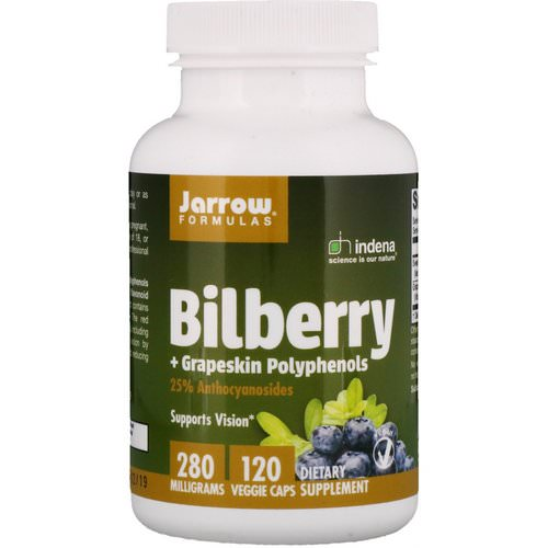 Jarrow Formulas, Bilberry + Grapeskin Polyphenols, 280 mg, 120 Veggie Caps Review