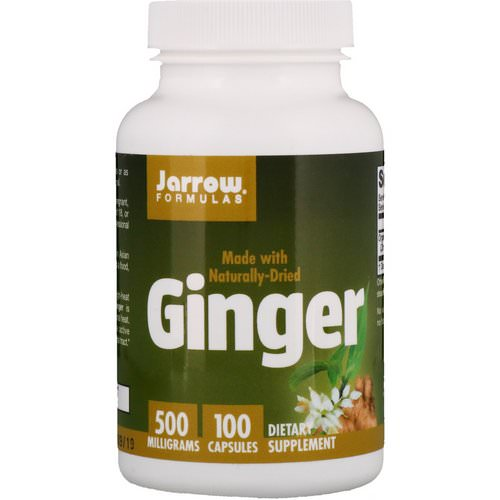 Jarrow Formulas, Ginger, 500 mg, 100 Capsules Review