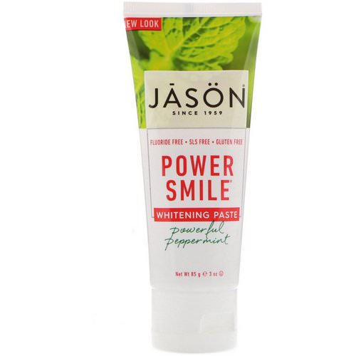 Jason Natural, Power Smile, Whitening Paste, Powerful Peppermint, 3 oz (85 g) Review