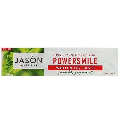 Jason Natural, PowerSmile Whitening Paste, Powerful Peppermint, 6 oz (170 g) Review