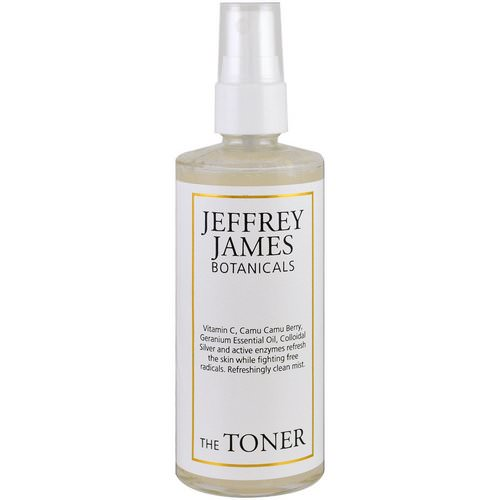 Jeffrey James Botanicals, The Toner, Refreshingly Clean Mist, 4.0 oz (118 ml) Review