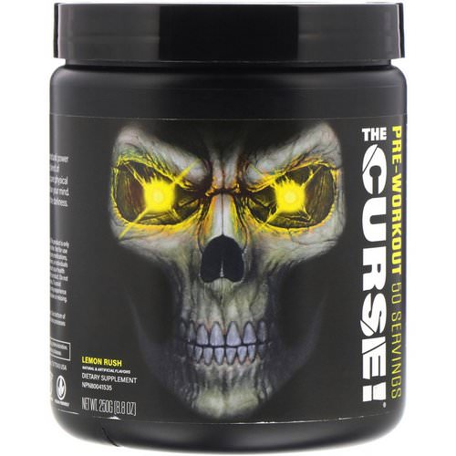 JNX Sports, The Curse, Pre Workout, Lemon Rush, 8.8 oz (250 g) Review