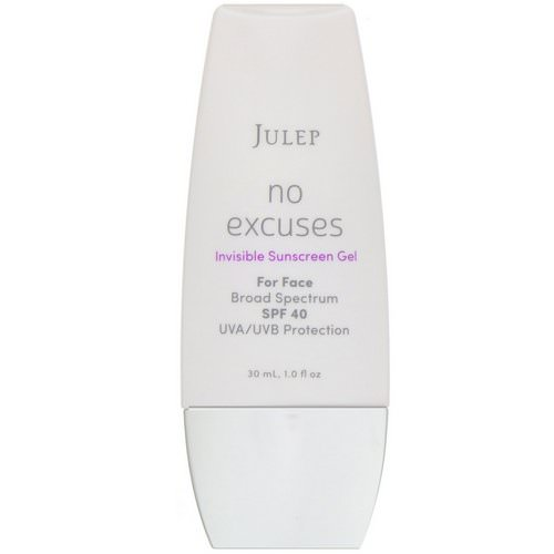 Julep, No Excuses, Invisible Sunscreen Gel, SPF 40, 1 fl oz (30 ml) Review