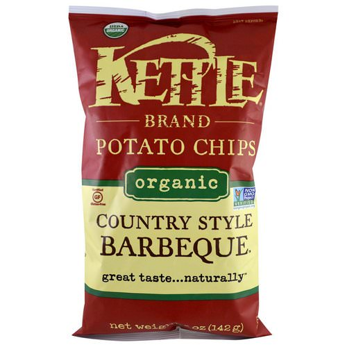 Kettle Foods, Organic Potato Chips, Country Style Barbeque, 5 oz (142 g) Review
