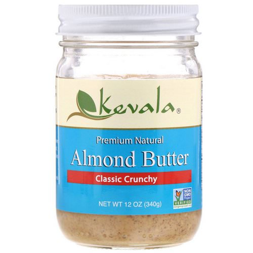 Kevala, Almond Butter, Classic Crunchy, 12 oz (340 g) Review
