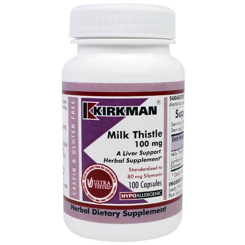 Kirkman Labs, Milk Thistle, 100 mg, 100 Capsules Review