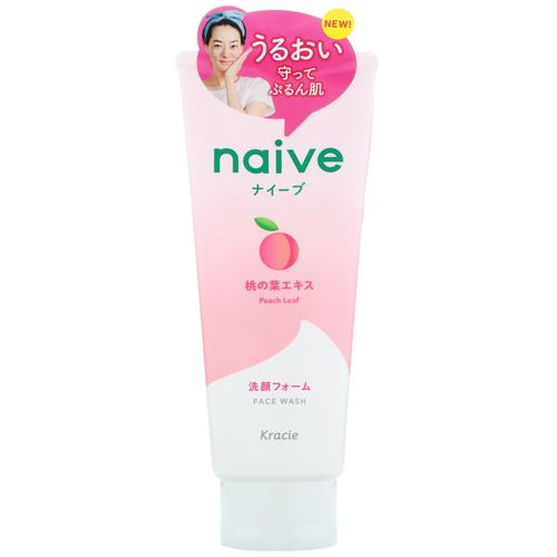 Kracie, Naive, Face Wash, Peach, 4.5 oz (130 g) Review