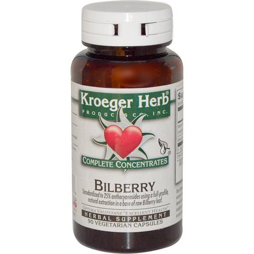 Kroeger Herb Co, Bilberry, 90 Veggie Caps Review