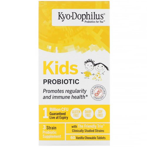 Kyolic, Kids Probiotic, Vanilla, 60 Chewable Tablets Review