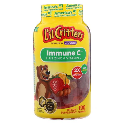 L'il Critters, Immune C Plus Zinc & Vitamin D, 190 Gummies Review