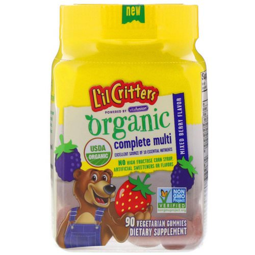 L'il Critters, Organic Complete Multi, Mixed Berry, 90 Vegetarian Gummies Review