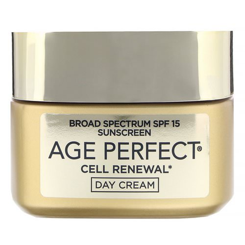 L'Oreal, Age Perfect Cell Renewal, Skin Renewing Day Cream Moisturizer, SPF 15, 1.7 oz (48 g) Review