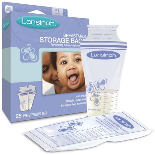 Lansinoh, Breastmilk Storage Bags, 25 Pre-Sterilized Bags Review