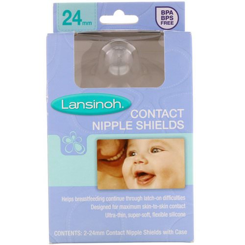 Lansinoh, Contact Nipple Shields with Case, 2 Pack 2-24 mm Review