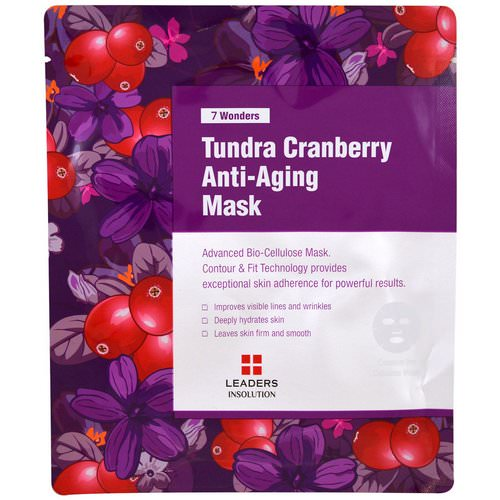 Leaders, 7 Wonders, Tundra Cranberry Anti-Aging Mask, 1 Mask Review