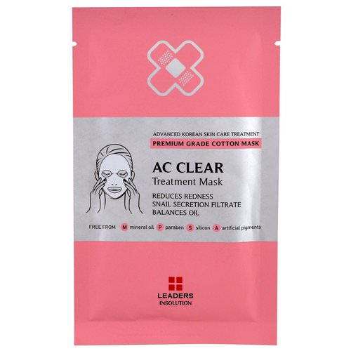 Leaders, AC Clear Treatment Mask, 1 Mask Review