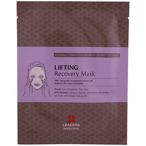 Leaders, Coconut Gel Lifting Recovery Mask, 1 Mask, 30 ml Review