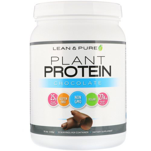 Lean & Pure, Plant Protein, Chocolate, 19.3 oz (548 g) Review