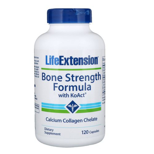 Life Extension, Bone Strength Formula with KoAct, 120 Capsules Review