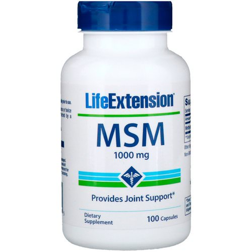 Life Extension, MSM, 1000 mg, 100 Capsules Review