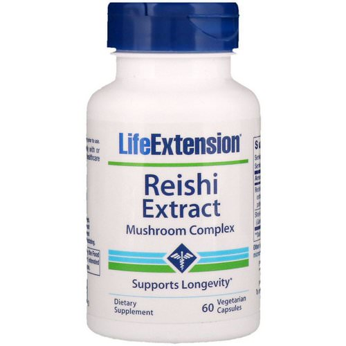 Life Extension, Reishi Extract Mushroom Complex, 60 Vegetarian Capsules Review