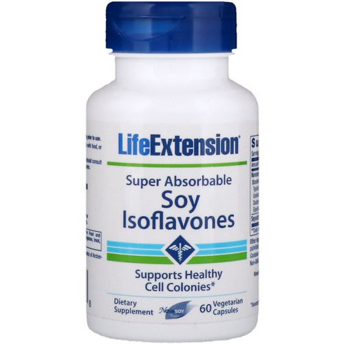 Life Extension, Soy Isoflavones, Super Absorbable, 60 Vegetarian Capsules Review
