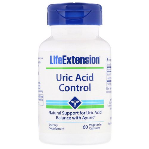 Life Extension, Uric Acid Control, 60 Vegetarian Capsules Review