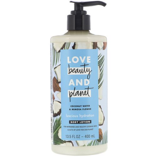 Love Beauty and Planet, Luscious Hydration Body Lotion, Coconut Water & Mimosa Flower, 13.5 fl oz (400 ml) Review